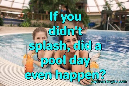 Pool Captions