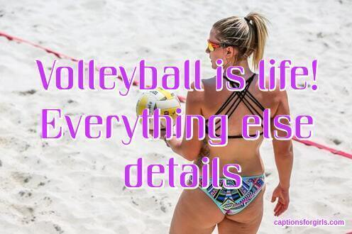 Volleyball Instagram Captions