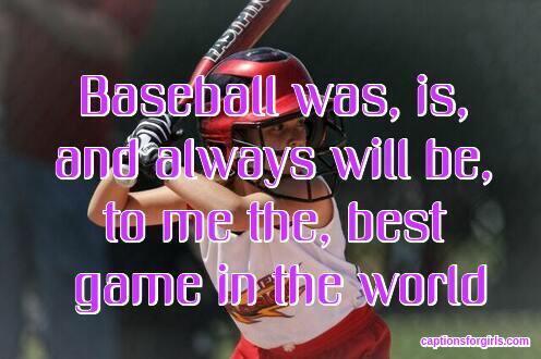 baseball captions