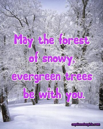 Snow Captions For Instagram
