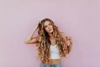 Blonde Hair Captions