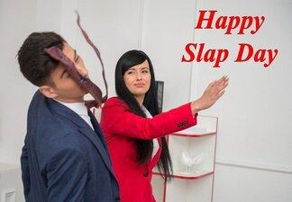 Slap Day Captions